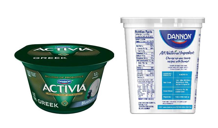 Activia Blueberry Nonfat Greek_vs_Plain Whole Fat_Dannon